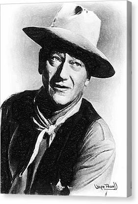 John Wayne Canvas Print by Wayne Pascall