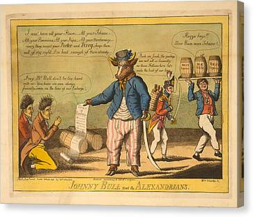 Johnny Bull And The Alexandrians  Wm Charles, Ssc. Charles Canvas Print by Litz Collection