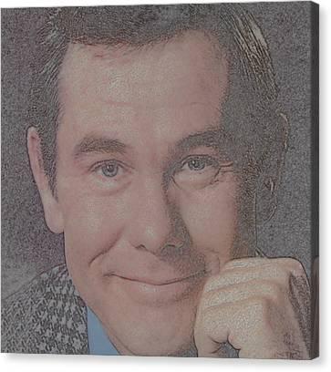 Johnny Carson Canvas Print by Douglas Settle