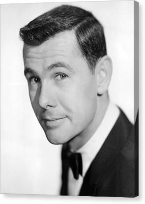 Johnny Carson Canvas Print by Silver Screen