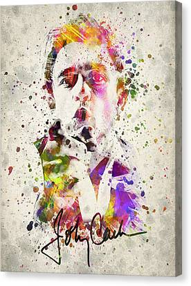 Johnny Cash Canvas Print - Johnny Cash  by Aged Pixel