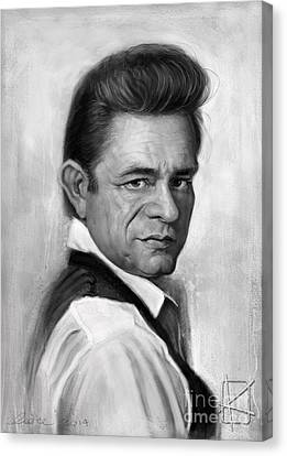 Johnny Cash Canvas Print by Andre Koekemoer