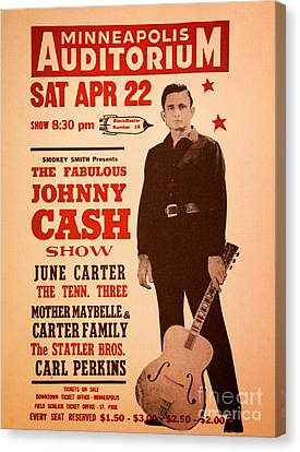 Nashville Tennessee Canvas Print - Johnny Cash by Bob Hislop