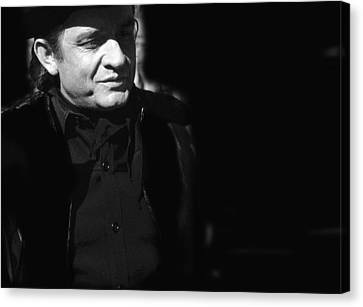 Canvas Print featuring the photograph Johnny Cash Film Noir Homage Old Tucson Arizona 1971 by David Lee Guss