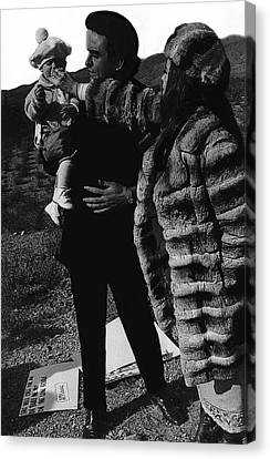 Canvas Print featuring the photograph Johnny Cash Flesh And Blood Music Homage Cash Family Old Tucson Az by David Lee Guss