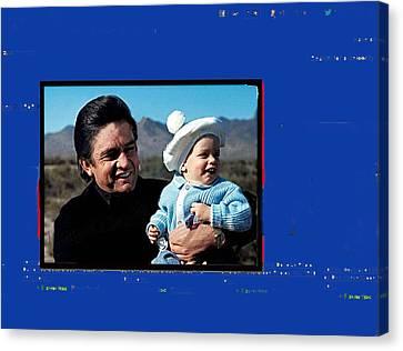 Canvas Print featuring the photograph Johnny Cash John Carter Cash Old Tucson Arizona 1971 by David Lee Guss