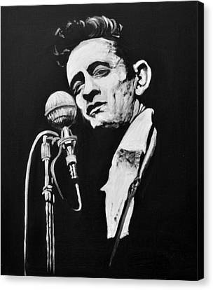 Johnny Cash Canvas Print by Melissa O'Brien