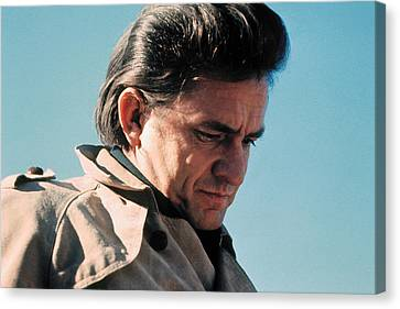 Canvas Print featuring the photograph Johnny Cash  Music Homage Ballad Of Ira Hayes Old Tucson Arizona 1971 by David Lee Guss