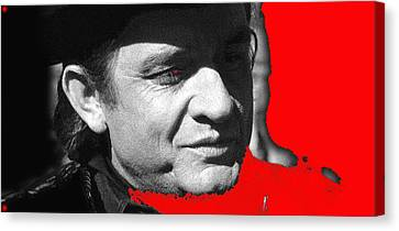 Canvas Print featuring the photograph Johnny Cash Music Homage Ring Of Fire Old Tucson Arizona 1971 by David Lee Guss