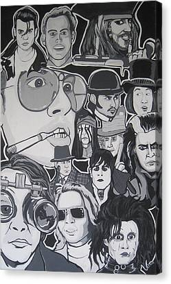 Johnny Depp Character Tribute Canvas Print by Gary Niles