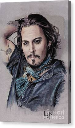 Johnny Depp Canvas Print by Melanie D