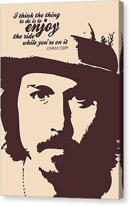 Johnny Depp Minimalist Poster Canvas Print by Lab No 4 - The Quotography Department