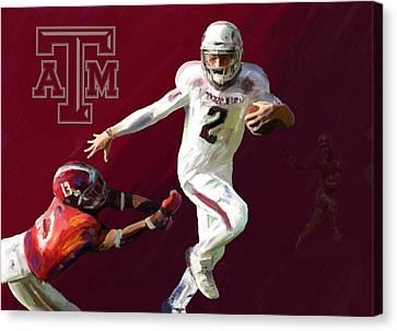 University Of Texas Canvas Print - Johnny Football by GCannon