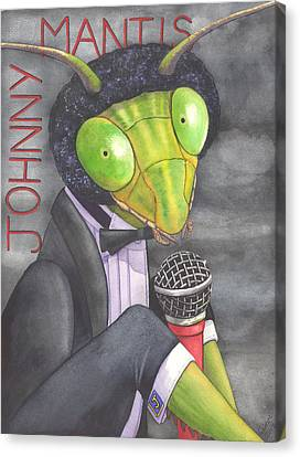 Johnny Mantis Canvas Print by Catherine G McElroy