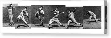 Johnny Podres, American Mlb Player Canvas Print