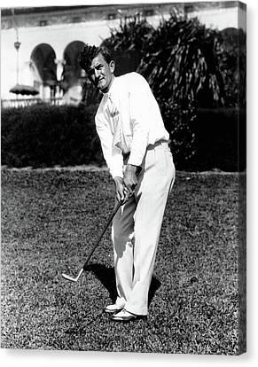 Full-length Portrait Canvas Print - Johnny Revolta Playing Golf by Acme