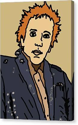 Johnny Rotten Canvas Print by Jera Sky