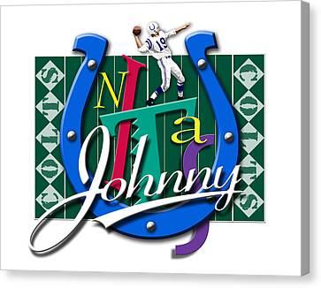 Johnny Unitas Baltimore Colts Canvas Print by Ron Regalado