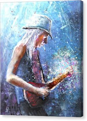 Johnny Winter Canvas Print by Miki De Goodaboom