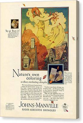 Johns-manville 1927 Usa Cc  Asbestos Canvas Print by The Advertising Archives
