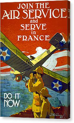 Join The Air Service, 1917 Canvas Print