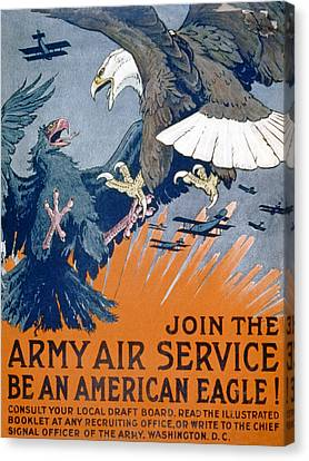 Battle Canvas Print - Join The Army Air Service, Be An by Charles Livingston Bull