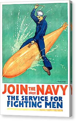Navy Canvas Print - Join The Navy by Gary Bodnar