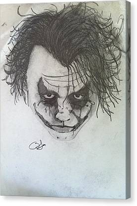 Joker Canvas Print by Blake Mcmillon