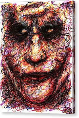 Joker - Face II Canvas Print by Rachel Scott
