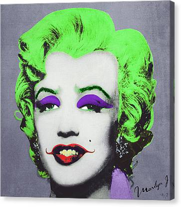 Joker Marilyn Canvas Print by Filippo B