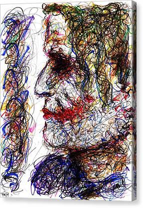 Joker - Profile Canvas Print by Rachel Scott