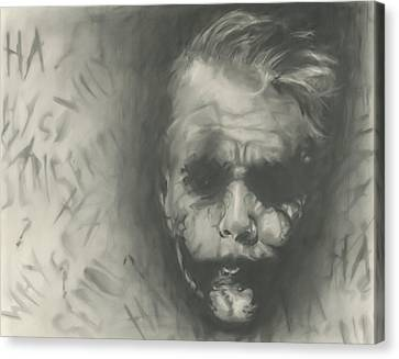 Joker Canvas Print by Raquel Ventura