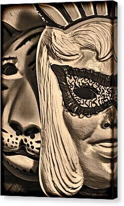 Joking Masks Canvas Print