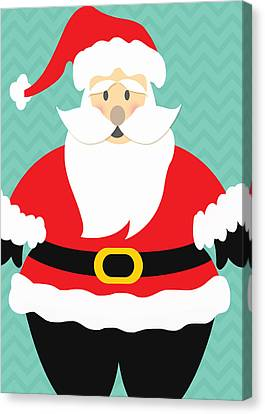 Jolly Santa Claus Canvas Print