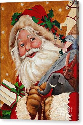 Jolly Santa Canvas Print by Enzie Shahmiri
