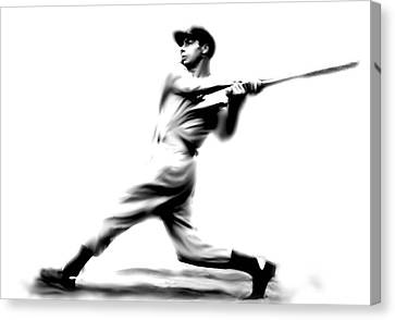 Joltin Joe Dimaggio  Joe Dimaggio Canvas Print by Iconic Images Art Gallery David Pucciarelli