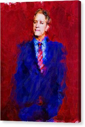 Jon Stewart Canvas Print by Janice MacLellan
