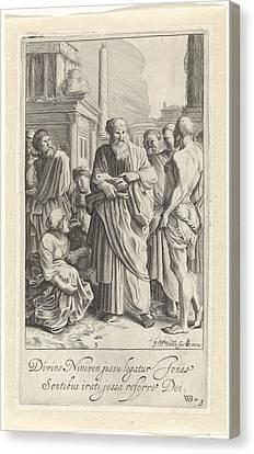 Jonah Preached In Nineveh, Jan Van De Velde II Canvas Print