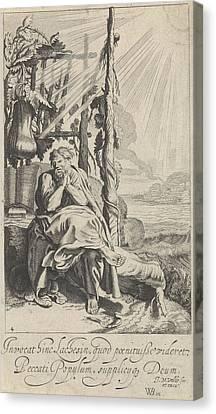 Jonas Under The Miracle Plant, Jan Van De Velde II Canvas Print by Jan Van De Velde (ii)