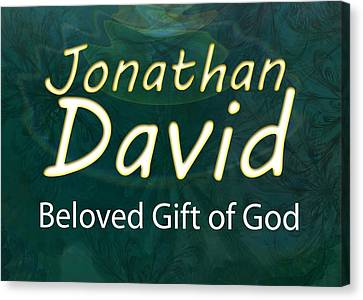 Inspiring Canvas Print - Jonathan David - Beloved Gift Of God by Christopher Gaston