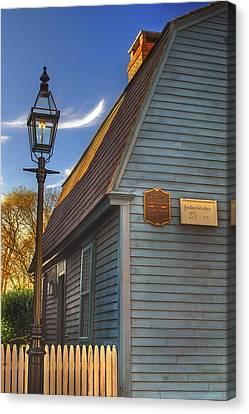 Jonathan Gibbs House Canvas Print by Joann Vitali
