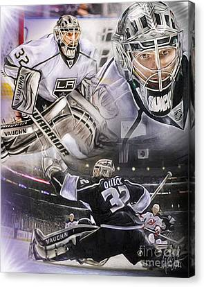 Jonathan Quick Collage Canvas Print by Mike Oulton
