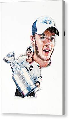 Jonathan Toews - The Season Canvas Print by Jerry Tibstra