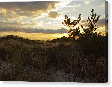 Canvas Print featuring the photograph Jones Beach Sunset Four by Jose Oquendo