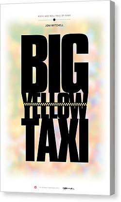 Joni Mitchell - Big Yellow Taxi Canvas Print by David Davies