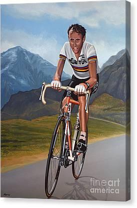 Climbing Canvas Print - Joop Zoetemelk by Paul Meijering