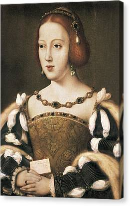 Joos Van Cleve 1485-1541. Eleanor Canvas Print by Everett