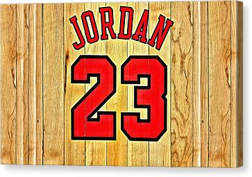 Jordan 23 Poster Canvas Print by Florian Rodarte