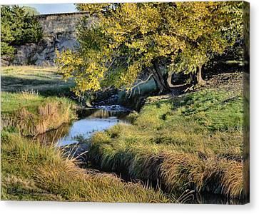 Jordan Creek Autumn Canvas Print
