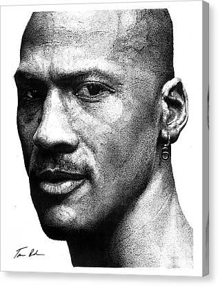 Michael Jordan Canvas Print - Jordan Dots by Tamir Barkan